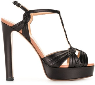 Francesco Russo high-heel T-bar sandals