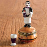 Gump's Limoges Sommelier With Wine Glass