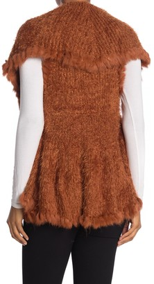 Love Token Genuine Rabbit Fur Trim Vest