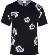 Saint Laurent Hibiscus-print Cotton T-shirt