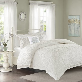 Madison Home USA Home Essence Amber Cotton 4 Piece Tufted Chenille Comforter Set