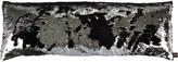 Aviva Stanoff Two Tone Mermaid Sequin Cushion - Black/Silver - 35x100cm