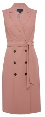Dorothy Perkins Womens Pink Sleeveless Trench Dress, Pink
