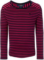 Polo Ralph Lauren Girls Stripe T-shirt with Small Pony Logo