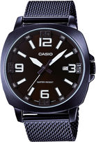 Casio Mens Brown Steel Mesh Strap Watch MTP1350DD-5A