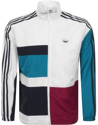 adidas Asymm Full Zip Track Top White