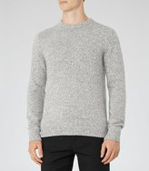 Reiss Horton - Twisted Yarn Jumper in Grey, Mens
