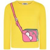 Moschino MoschinoGirls Yellow Bag Print Top