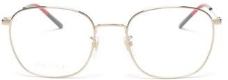Gucci Square Metal Sunglasses - Clear