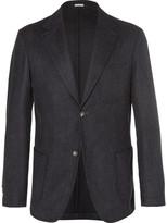 Massimo Alba - Blue Benetti Slim-fit Pinstriped Wool Blazer