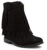 Godiva Fringe Vegan Leather Boot