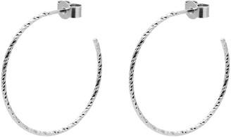 Myia Bonner Silver Large Faceted Hoop Earrings