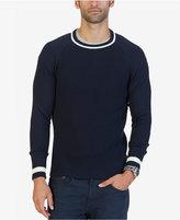 Nautica Men's Contrast Trim Crew-Neck Sweater