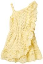 BCBGMAXAZRIA Eyelet One Shoulder Dress (Toddler Girls)