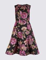 Per Una Floral Print Prom Skater Midi Dress