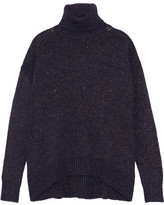 Etro Metallic Knitted Turtleneck Sweater - Midnight blue