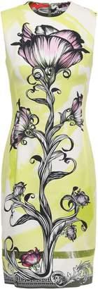 Versace Floral-print Cady Mini Dress