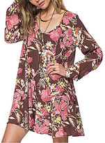 O'Neill Poppit Floral Print Long Sleeve Dress