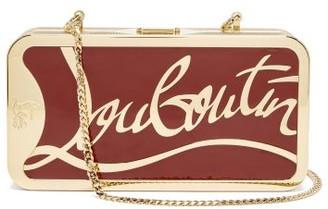 Christian Louboutin Bing-bong Logo-frame Bag - Gold Multi