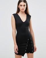 TFNC Stud Detail Wrap Bodycon Dress