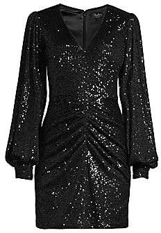 Parker Black Women's Ash Sequin Combo Sheath Dress - Size 0