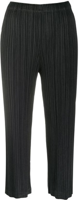 Pleats Please Issey Miyake Pleated Straight-Leg Trousers