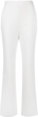 MSGM Crystal-Trimmed Boot-Cut Trousers