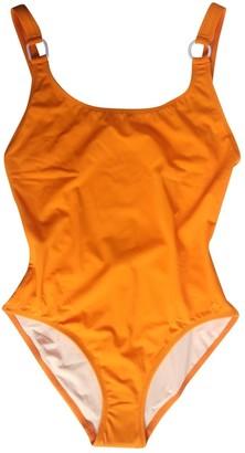 Solid & Striped Orange Cotton - elasthane Swimwear for Women