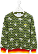 MSGM patterned jumper - kids - Cotton - 8 yrs