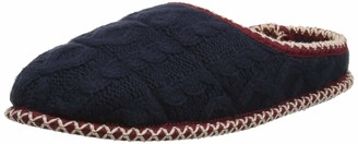 Dearfoams Women's Qilted Cable Knit Clog Open Back Slippers