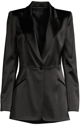 Elie Tahari Madison Satin Jacket