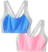 Fruit of the Loom Women's Crisscross Sports Bra(Pack of 2)