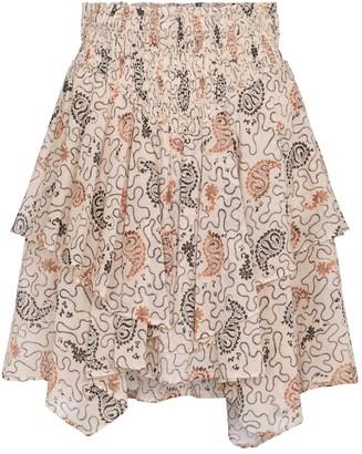 Etoile Isabel Marant Also paisley cotton miniskirt