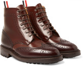 Thom Browne - Two-tone Leather Brogue Boots