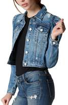 Blank NYC BLANKNYC Crop Puff Shoulder Denim Jacket