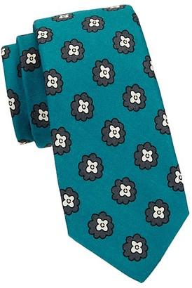Kiton Floral Wool Silk-Blend Tie