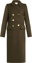 Tibi Double-breasted wool-blend trench coat