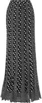 Diane von Furstenberg Addyson paneled printed silk-chiffon maxi skirt