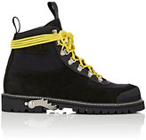 Off-White Men's Suede & Canvas Hiking Boots-BLACK