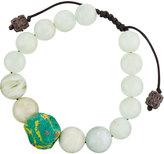 Armenta Moonstone, Aquamarine & African Beaded Bracelet