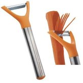 Progressive International Orange and Stainless Steel Julienne Peeler by