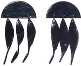 "Lele Sadoughi Dangling Ivy Earrings ""Jet"""