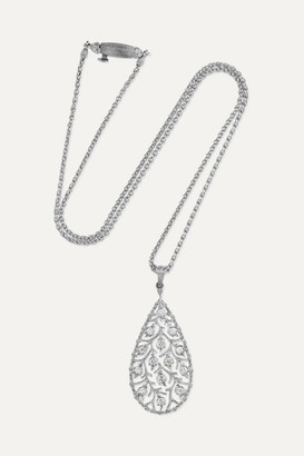 Buccellati Ramage 18-karat White Gold Diamond Necklace