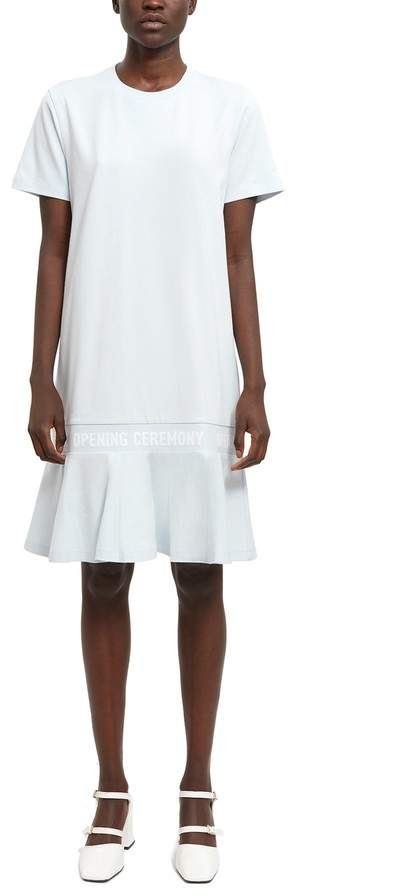 Opening Ceremony Scallop Oc Elastic Logo T-Shirt Dress