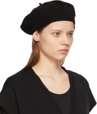 Y's Black Knit Beret