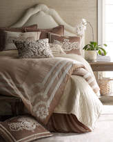 Horchow Lili Alessandra Chloe Queen Quilted Ivory Coverlet