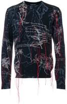 Alexander McQueen Explorer intarsia jumper