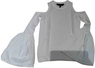 BCBGMAXAZRIA Ecru Cotton Top for Women