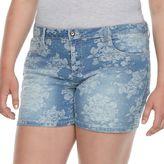 Candies Juniors' Plus Size Candie's® Floral Jean Shortie Shorts