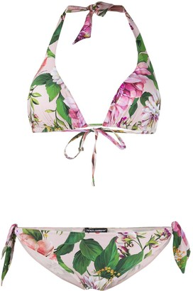 Dolce & Gabbana Two-Piece Floral Print Bikini